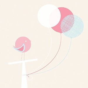 Oopsy Daisy Birdie and Balloons Canvas Wall Art, Pink/Neutral, 10 x 10 by Oopsy Daisy