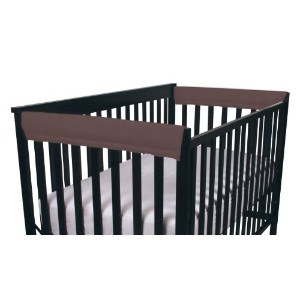 Easy Teether Side Rail Covers - - Brown by Leachco