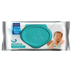 Pampers Sensitive Baby Wipes (56 per pack) パンパース敏感な赤ちゃんのワイプ(パックあたり56 )