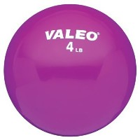 Valeo Weighted Fitness Ball 4lb Purple WFB4 %