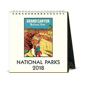 Cavallini Papers & Co National Parks 2018デスクカレンダー