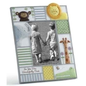 You Were Wonderfully Made Baby Picture Photo Frame with Zoo Animals Nursery by Church Supply...