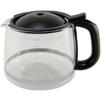 KRUPS XS1500 Glass Carafe for KRUPS Combi Machines, 10-Cup, Black by KRUPS