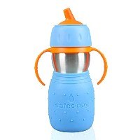 Kid Basix Safe Sippy Cup, The Original Stainless Steel Sippy Cup, Blue, 11oz by Kid Basix