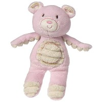 Mary Meyer Thready Teddy Plush Rattle, Pink by Mary Meyer