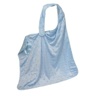 Stephan Baby Satin-Lined Ultra Soft Textured Plush Nursing Cover, Blue Bumpy Stars by Stephan Baby