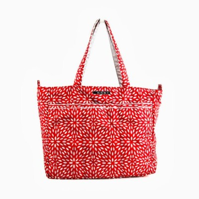 ju-ju-be Super Be Zippered Tote Diaper Bag One Size レッド 12FF02ASCP