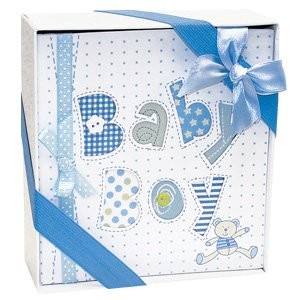 Whimsical Blue BABY BOY's First PHOTO ALBUM/Newborn Infant BOY/HOLDS 72 Photos 4 x 6/Great BABY...
