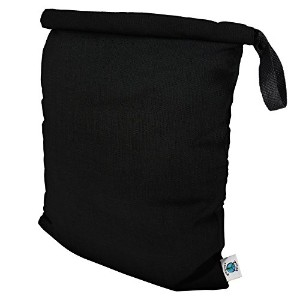 Planet Wise Roll Down Wet Diaper Bag, Black, Large by Planet Wise