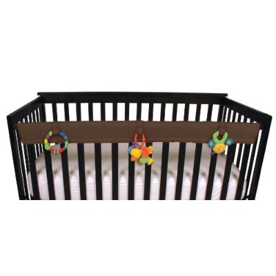 Leachco Easy Teether Soft & Padded Crib Rail Cover, Brown by Leachco [並行輸入品]