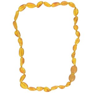 Momma Goose Olive Teething Necklace, Unpolished Honey, Small/11-11.5 by Momma Goose