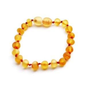 Momma Goose Teething Necklace, Unpolished Honey by Momma Goose