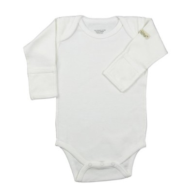 little world peas Long Sleeve Bodysuit 3-6 months White by little world peas