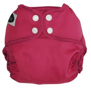 Imagine Baby Products All-In-Two Shell Snap Diaper Cover, Raspberry by Imagine Baby Products