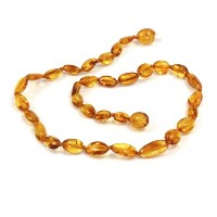 Momma Goose Olive Teething Necklace, Honey, Small/11-11.5 by Momma Goose