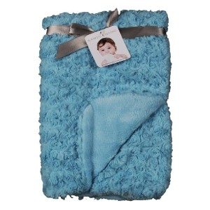 Blankets and Beyond Rosette Blanket Turquoise by Blankets and Beyond