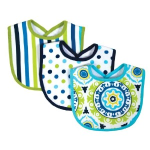 Trend Lab Waverly Solar Flair Bib Set, Blue/Green, 3 Count by Trend Lab