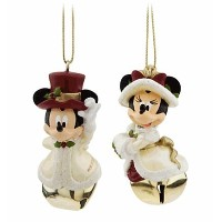 Disney(ディズニー)Minnie and Mickey Mouse Victorian Bell Ornament Set ミニーとミッキーの鐘飾りセット【並行輸入品】