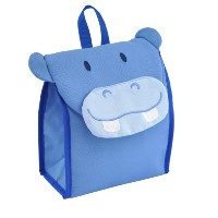 green sprouts Safari Insulated Lunch Bag, Blue Hippo by green sprouts
