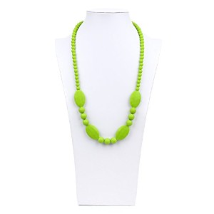 Bumkins Nixi Ellisse Silicone Teething Necklace, Green by Bumkins
