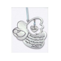 Sweet GUARDIAN ANGEL Baby BOY Crib Medal 4 PEWTER - CHRISTENING/SHOWER GIFT/Baptism KEEPSAKE/with...