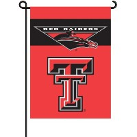 BSI PRODUCTS 83027 2-Sided Garden Flag - Texas Tech Red Raiders