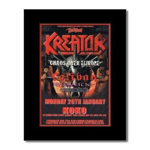 KREATOR - London Koko 26th January 2009 Mini Poster - 28.5x21cm