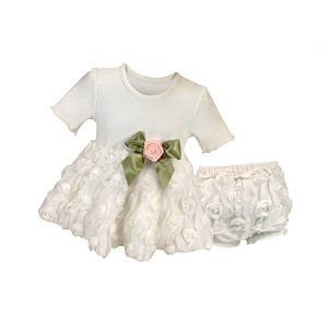 Stephan Baby Girl's Night Out Chiffon Rosette-skirted Set, 6-12 Months by Stephan Baby