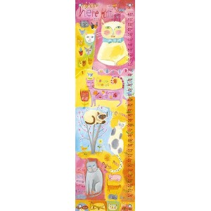 Oopsy Daisy Growth Charts Kitty Cat Cuteness by Donna Ingemanson, 12 by 42-Inch by Oopsy Daisy