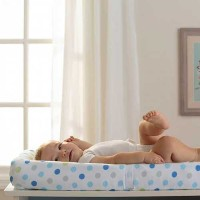 Breathable Baby Blue Mist Dot Changing Pad Cover by Breathable Baby (English Manual)