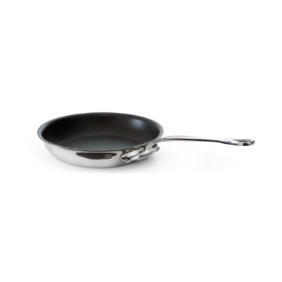 Mauviel Made In France M'Cook 5 Ply Stainless Steel 5214.24 9.5 Inch Round Non Stick Frying Pan,...