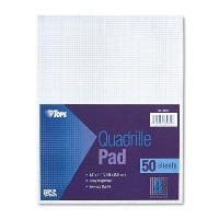 Quadrille Pads, 8 Squares/inch, 8-1/2 x 11, White, 50 Sheets/Pad (並行輸入品)