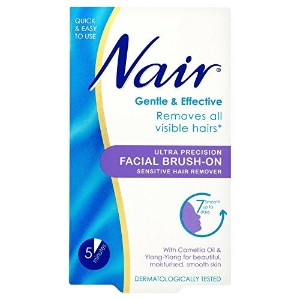 6 x Nair Ultra Precision Facial Brush-On Sensitive Hair Remover 50ml by Nair