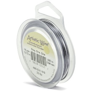 Artistic Wire 22-Gauge Grey Wire, 15-Yards by Beadalon