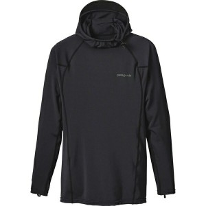 パタゴニア メンズ シャツ トップス Patagonia R0 Hooded Sun Shirt - Long-Sleeve - Men's Black/Forge Grey