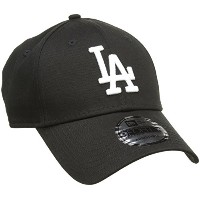 New Era Los Angeles Dodgers 9forty Strapback Cap Black White Adjustable 940 Basecap