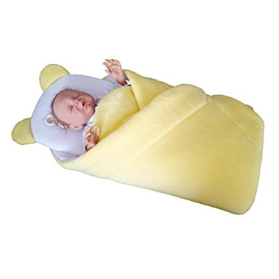 BlueberryShop FLEECE with Pillow Very WARM and Cute Swaddle Wrap, Blanket, Sleeping Bag, baby...