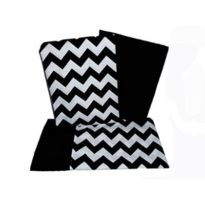 Baby Doll Bedding Chevron Crib and Toddler Sheet Set, Black by BabyDoll Bedding