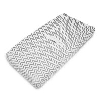 American Baby Company Heavenly Soft Chenille Fitted Contoured Changing Pad Cover, Gray Zigzag by...