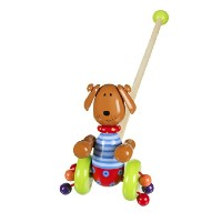Orange Tree Toys Push Along Wooden Toy - Dog