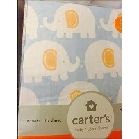 Carter's Fitted Sheet, Elephant /Powder Blue by Carter's