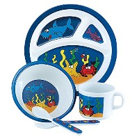 Under the Sea 5ピース子供のメラミンMealtime Set
