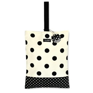 decorPolkaDot シューズケース リバーシブル polka dot large(twill・white)×polka dot small(twill・black)【シューズバッグ...