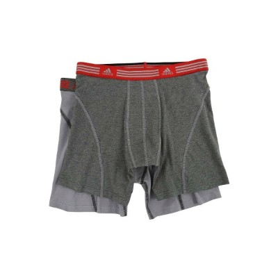 アディダス メンズ インナー・下着 ボクサーパンツ【Athletic Stretch 2-Pack Boxer Brief】Marl Heather Black/Ray Red/Grey/Black...