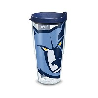 "Tervis 1127096 "" NBA Memphis Grizzlies C "" Tumbler withネイビー蓋、ラップ、24オンス、クリア"
