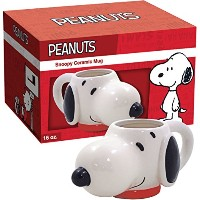 ICUP Peanuts Snoopy Molded Head Ceramic Mug, Clear by ICUP