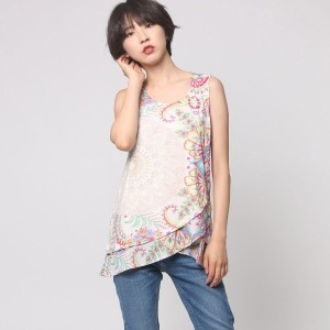 デシグアル Desigual TS_SLEEVELESS (CRUDO SHINY)