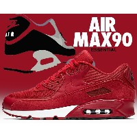 【ナイキ エア マックス 90】NIKE AIR MAX 90 ESSENTIAL gym red/gym red-blk-wht