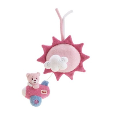 Trudi Pink Baby Bear Music Box, Braham's Lullaby by Trudi