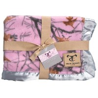 True Timber 71343 Snowfall Pink Baby Blanket by True Timber